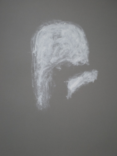 Head 10, Oil on paper, 2012